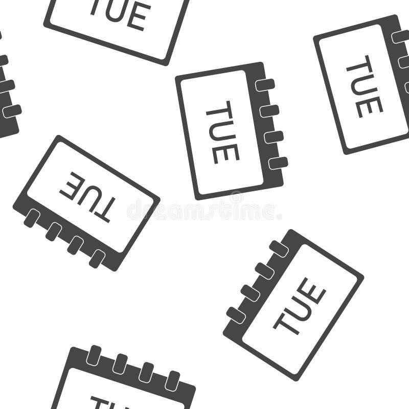 Jour civil de la semaine jeudi Illustration de vecteur faite dans le modèle sans couture gris sur un fond blanc Couches group?es  illustration libre de droits