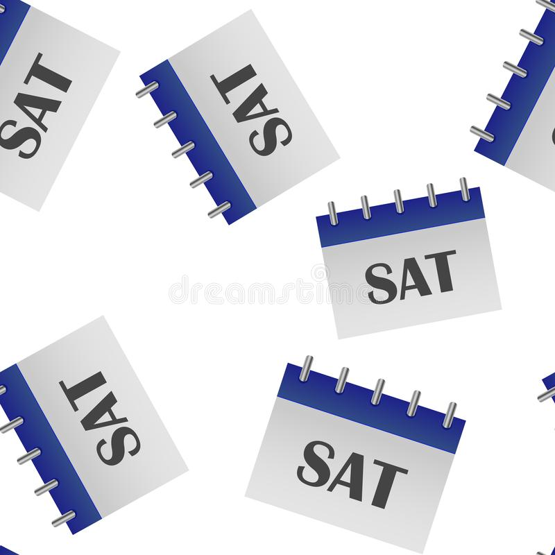 Jour civil de la semaine samedi Illustration de vecteur faite dans le modèle sans couture de couleur grise et bleue sur un fond b illustration libre de droits