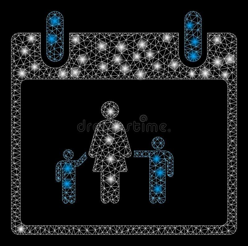 Jour civil rougeoyant de mère de maille 2D avec les taches instantanées illustration de vecteur