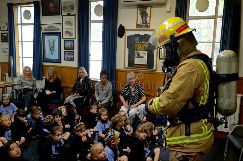 Jour d'éducation de sécurité incendie photographie stock