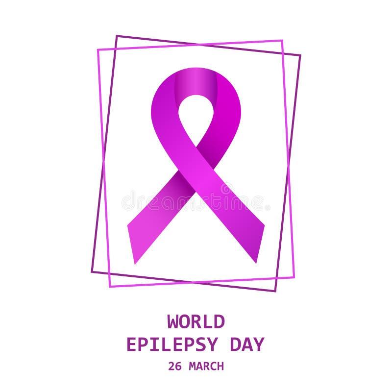 Jour d'épilepsie du monde Illustration de vecteur illustration libre de droits