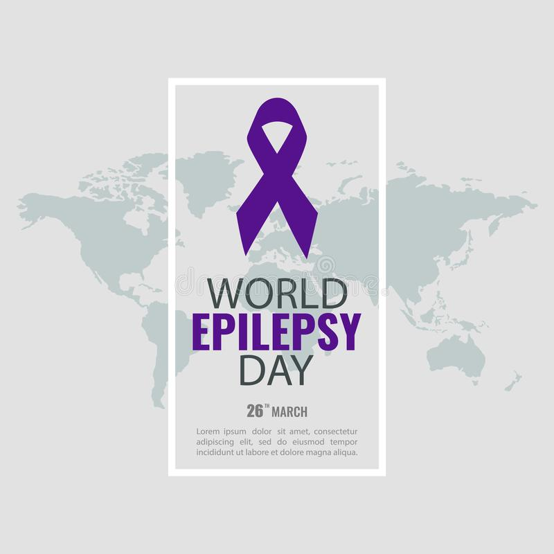 Jour d'épilepsie du monde illustration de vecteur