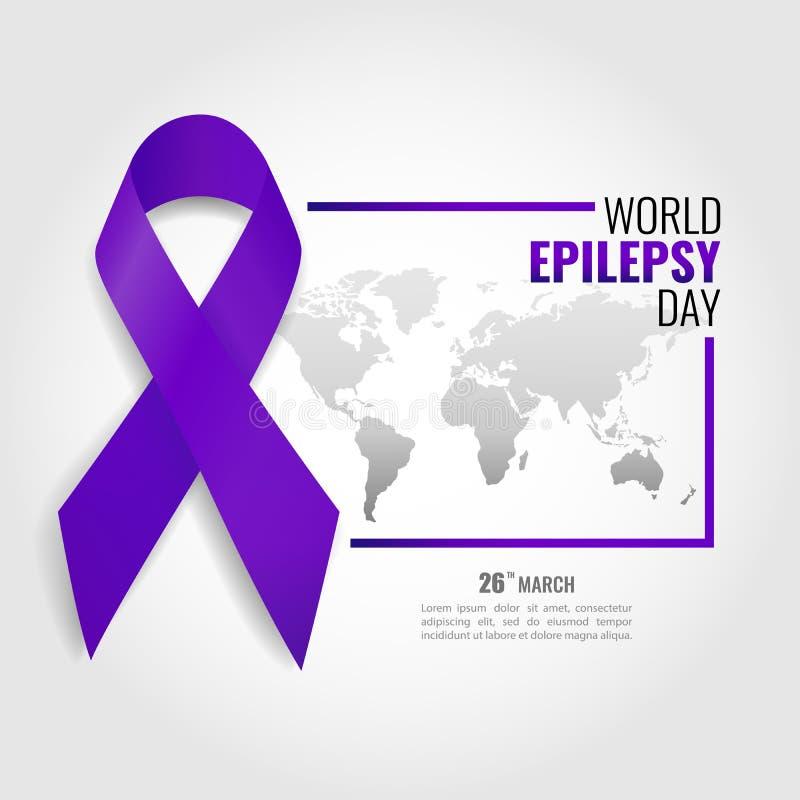 Jour d'épilepsie du monde illustration libre de droits