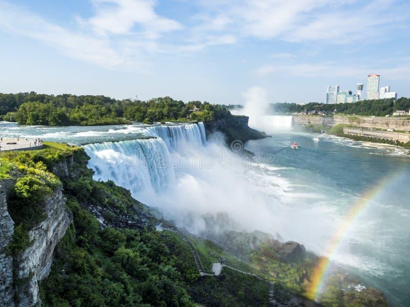 Jour d'été de chutes du Niagara - New York images libres de droits