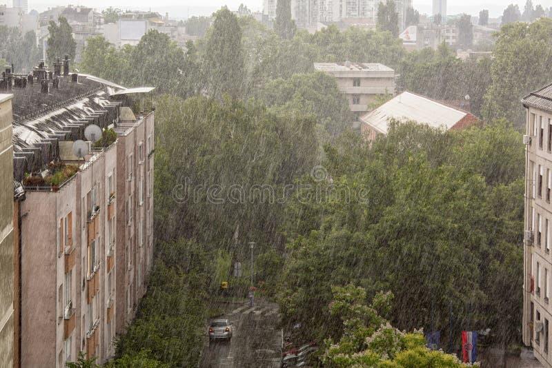 Jour d'été pluvieux à Zagreb images libres de droits