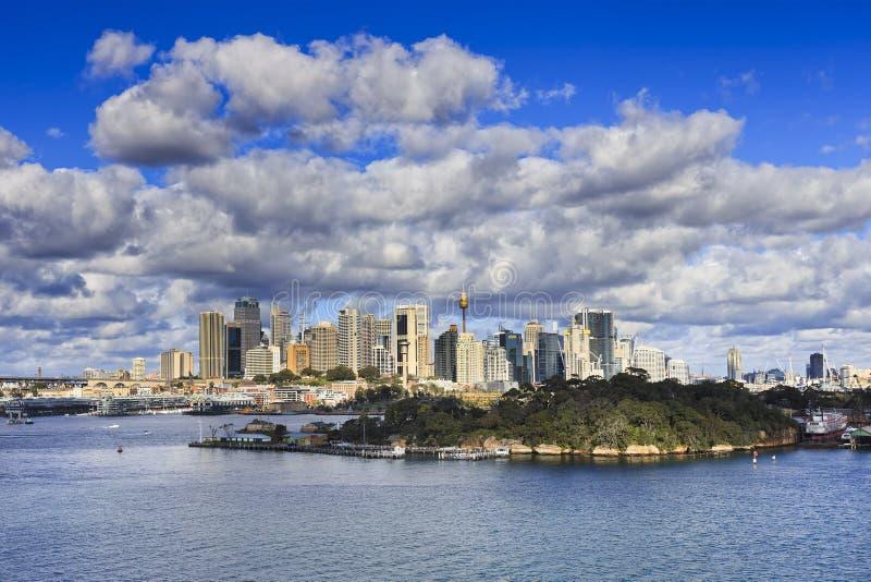 Jour d'île de chèvres de Sydney CBD photo stock
