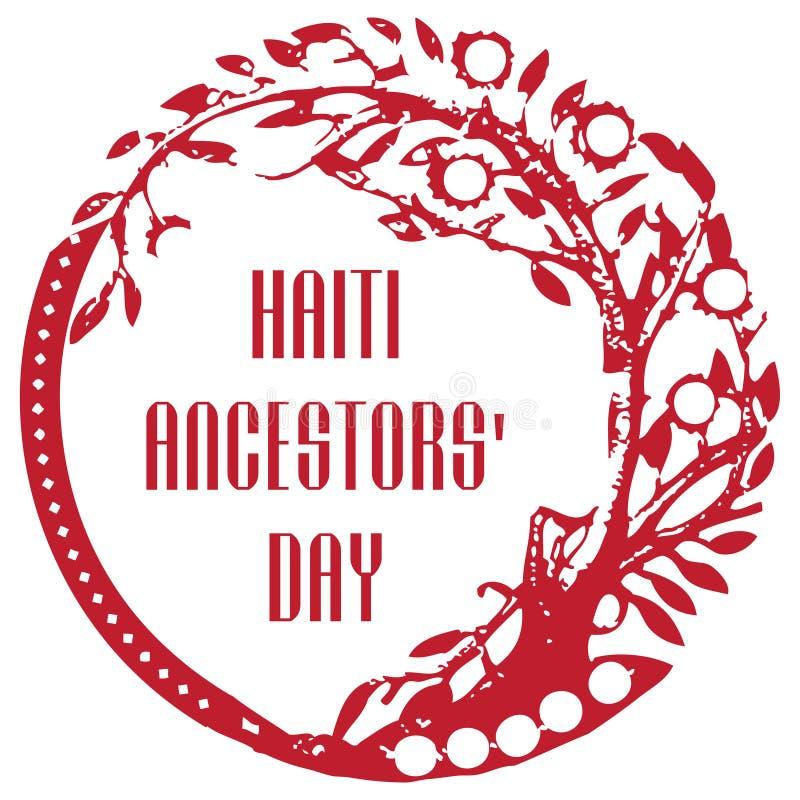 Jour d'ancêtres du Haïti illustration stock
