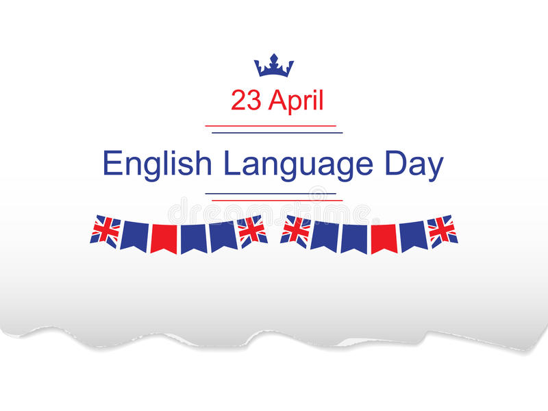 Jour d'anglais illustration stock