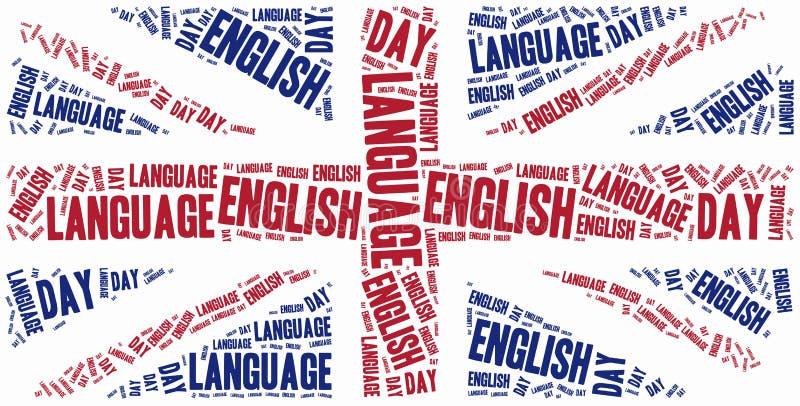 Jour d'anglais Célébré le 23 avril illustration de vecteur