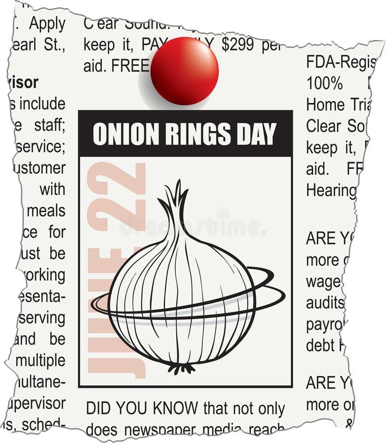Jour d'anneaux d'oignon illustration libre de droits