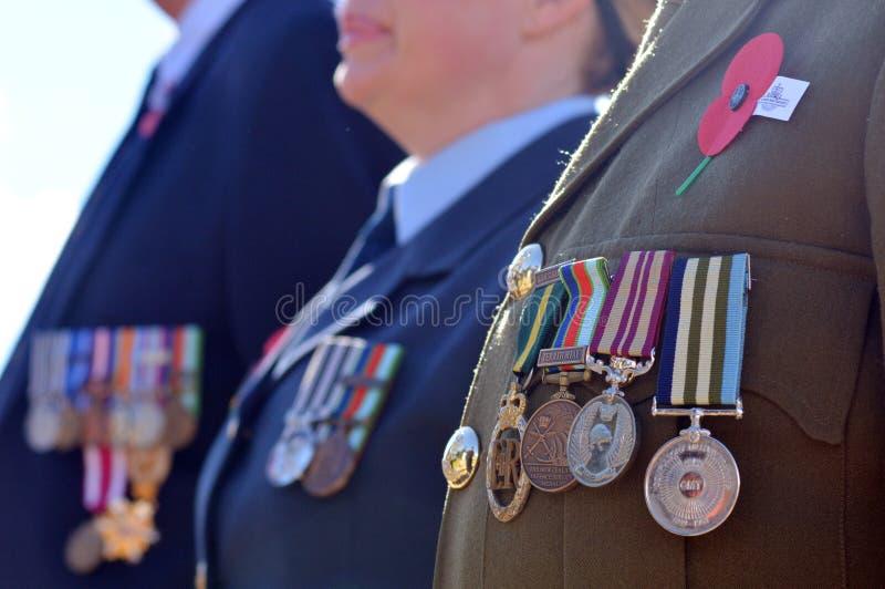Jour d'Anzac - cérémonie commémorative de guerre images stock