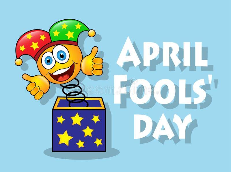 Jour d'April Fools d'amusement ' illustration de vecteur
