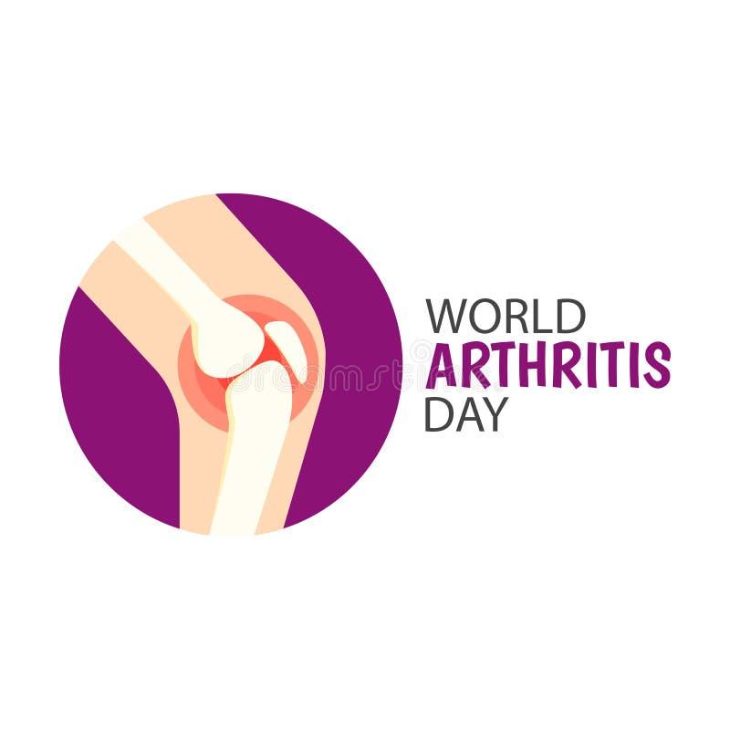 Jour d'arthrite du monde illustration stock