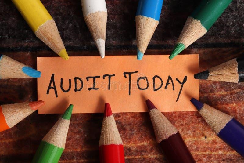 Jour d'audit photo stock