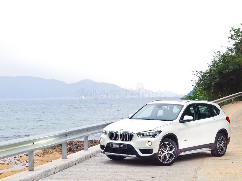 Jour d'entraînement d'essai de BMW X1 2016 image libre de droits