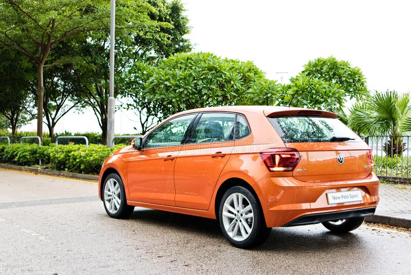 Jour d'entraînement d'essai de Volkswagen Polo 2018 photo stock