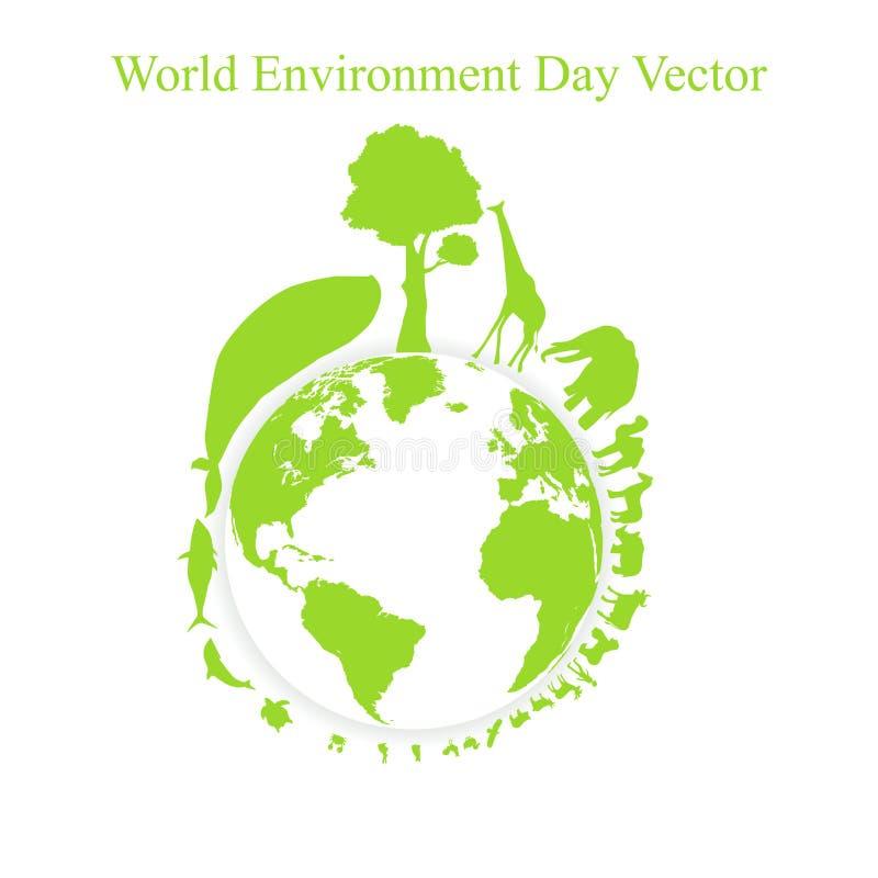 Jour d'environnement du monde illustration stock