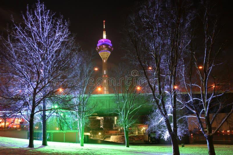 Jour d'hivers à Dusseldorf photographie stock libre de droits