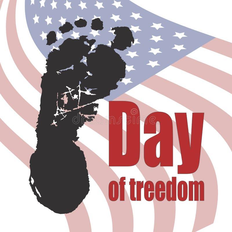 Jour d'illustration de vecteur d'abolition d'esclavage illustration libre de droits