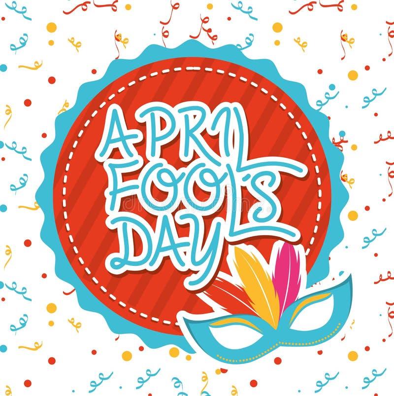 Jour d'imbéciles d'avril illustration stock