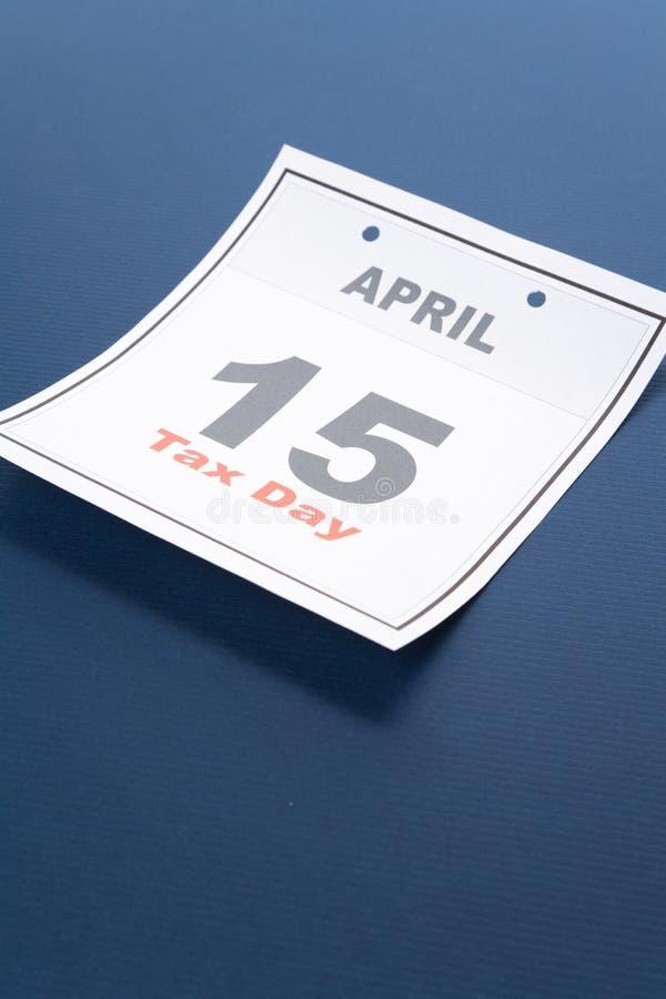 Jour d'impôts de calendrier photo libre de droits