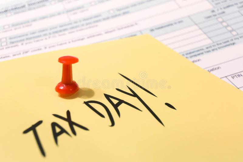 Jour d'impôts des Etats-Unis le 15 avril 2019 image libre de droits