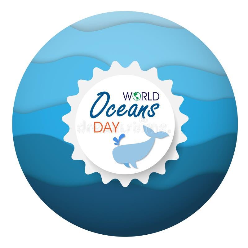 Jour d'océans du monde illustration de vecteur
