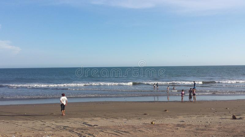 Jour dans la plage photos stock