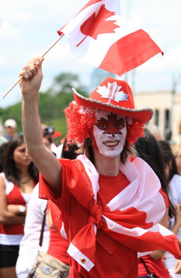 Jour de célébration mâle du Canada image libre de droits