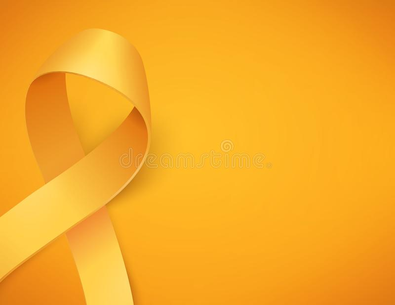 Jour de Cancer d'enfance illustration libre de droits