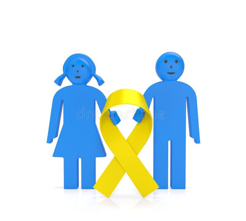Jour de Cancer d'enfance illustration de vecteur