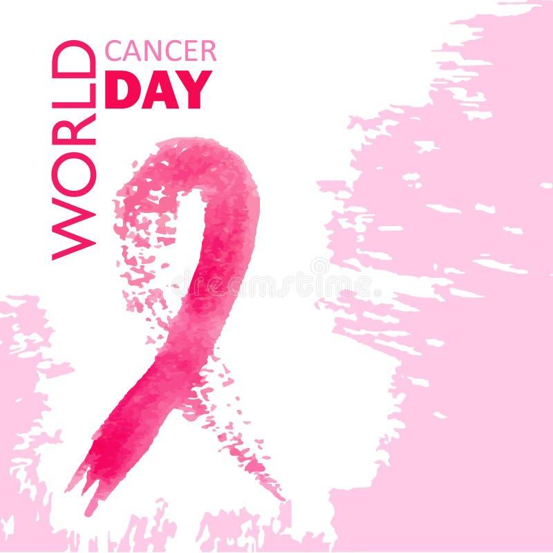 Jour de cancer du monde images libres de droits