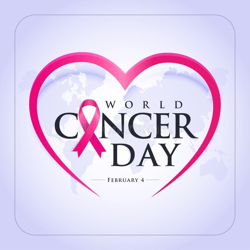 Jour de cancer du monde illustration stock