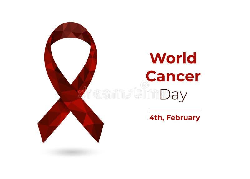 Jour de Cancer du monde pour le Web et l'impression illustration de vecteur
