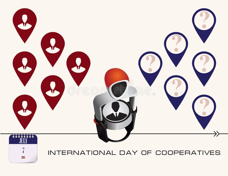 Jour de carte postale des coopératives illustration libre de droits