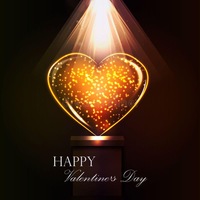 Jour de carte postale de la valentine sainte illustration stock