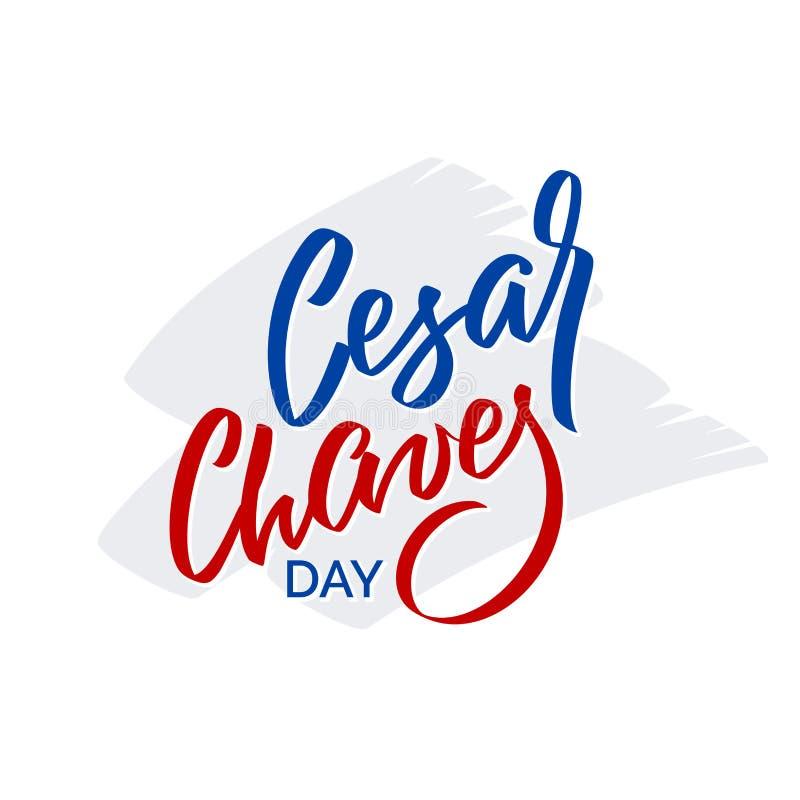 Jour de Cesar Chaves - typographie de vecteur, calligraphie illustration de vecteur