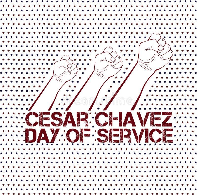 Jour de Cesar Chavez illustration libre de droits
