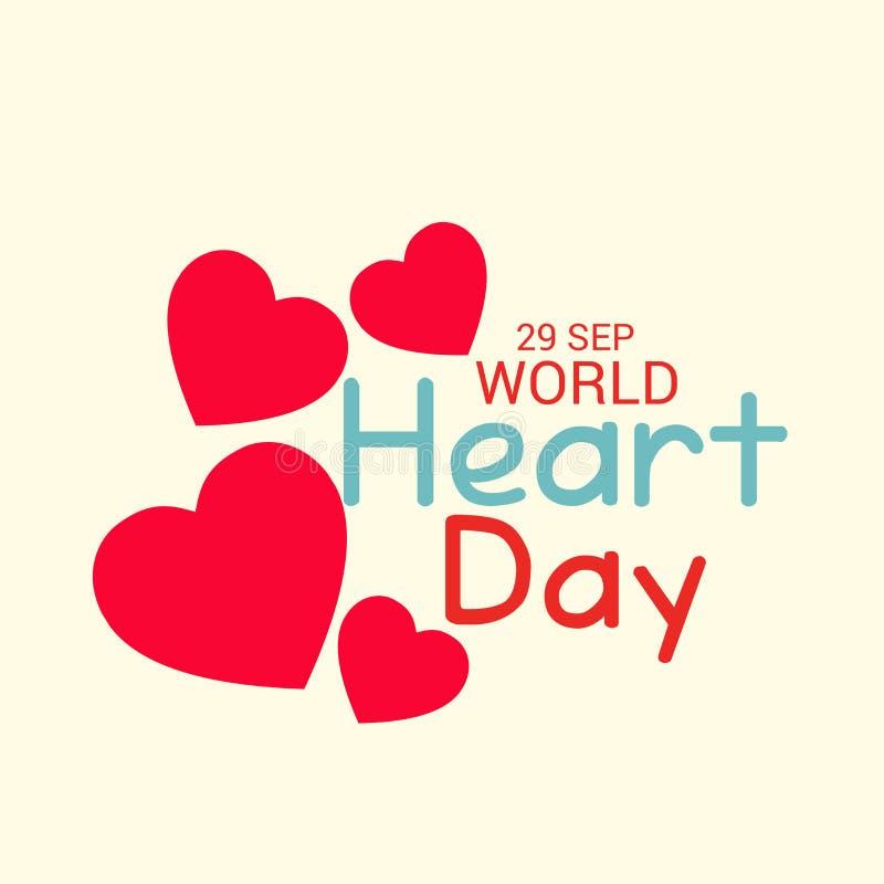 Jour de coeur du monde illustration libre de droits