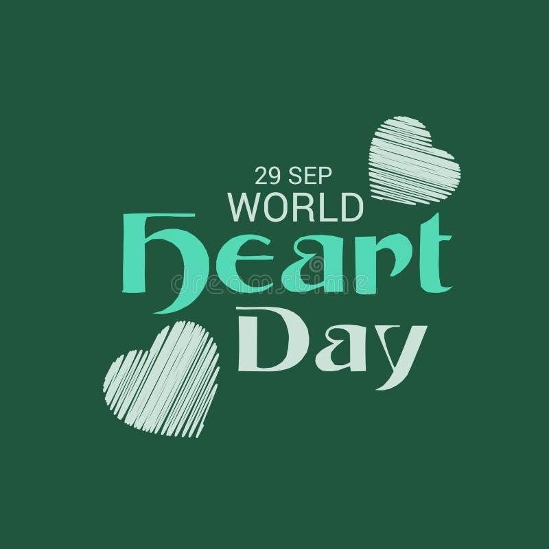 Jour de coeur du monde illustration de vecteur