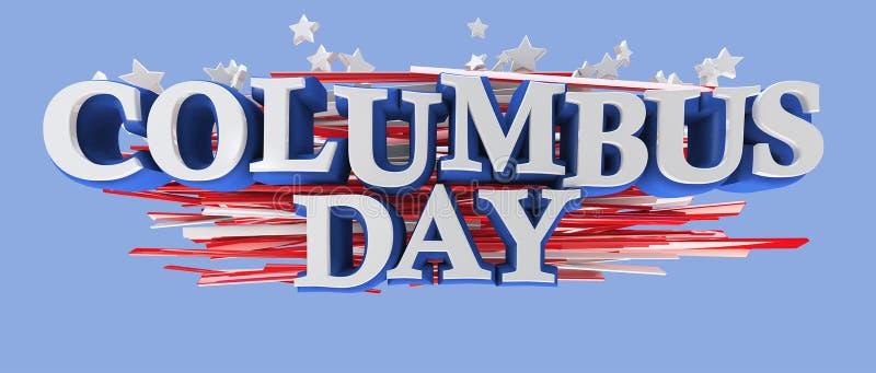 Jour de Columbus illustration de vecteur