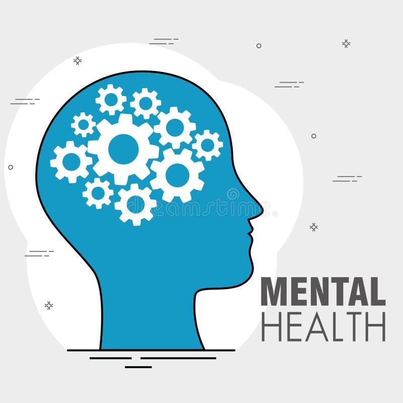 Jour de concept de santé mentale illustration de vecteur