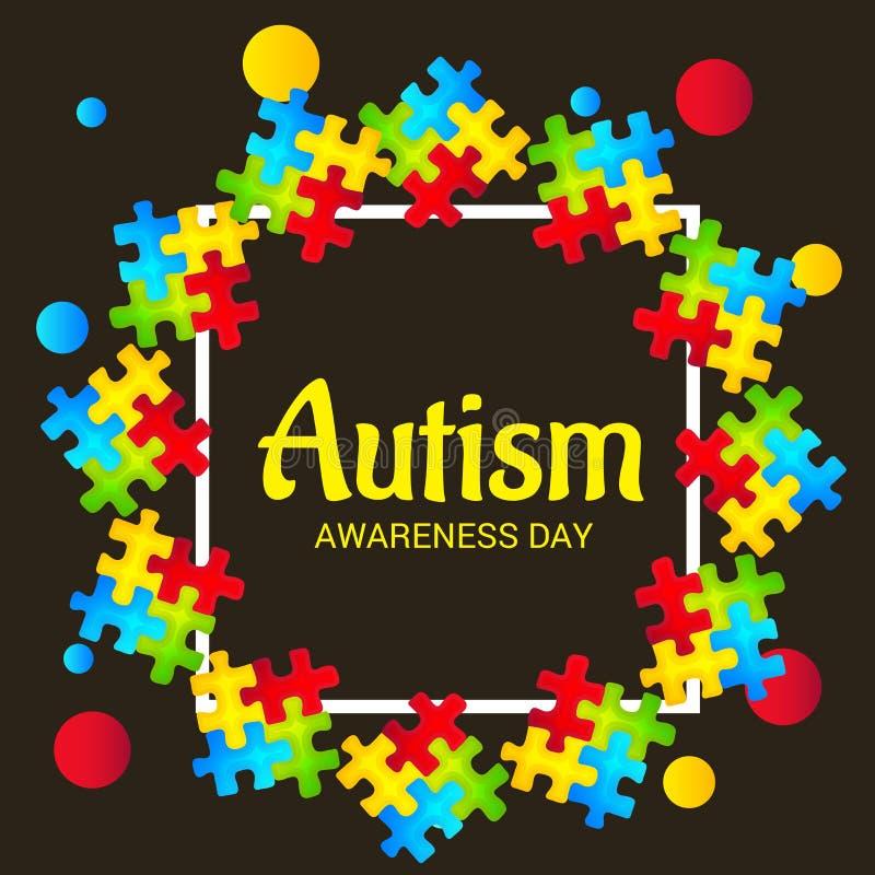 Jour de conscience d'autisme illustration stock