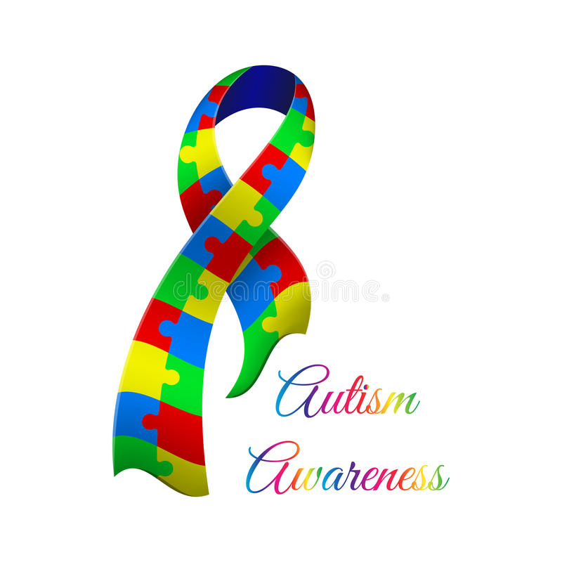 Jour de conscience d'autisme illustration libre de droits