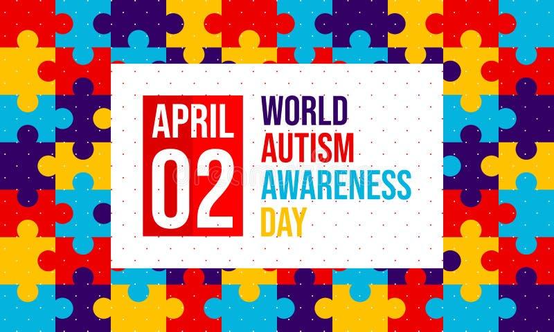 Jour de conscience d'autisme du monde - vecteur illustration stock