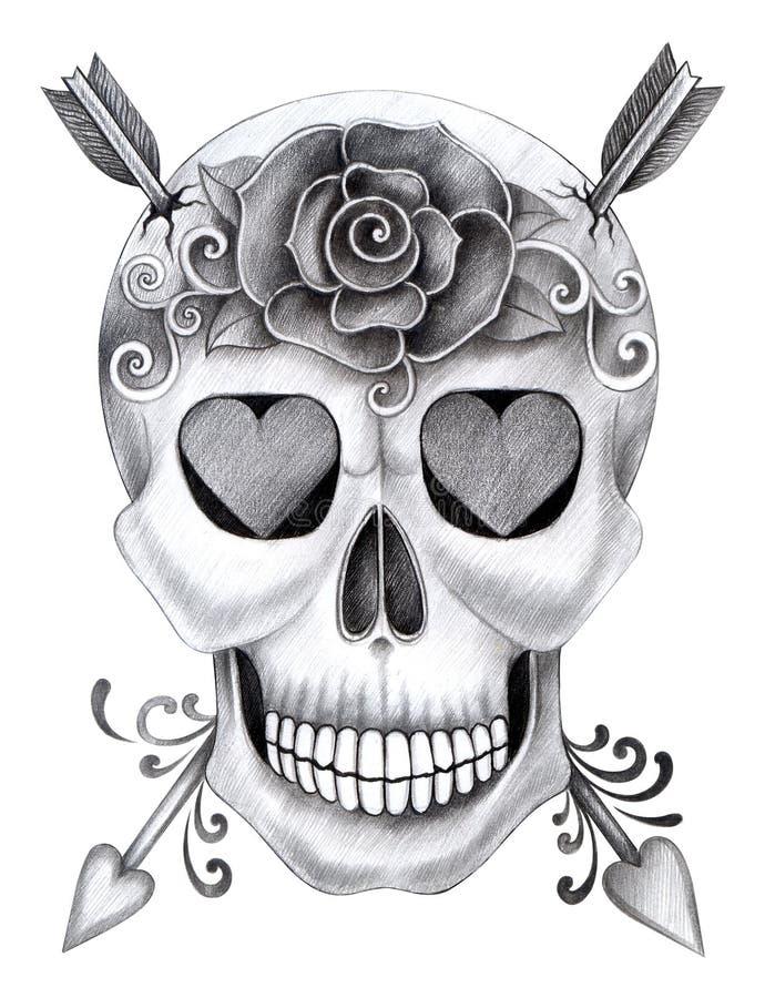 Jour de crâne d'art des morts illustration stock