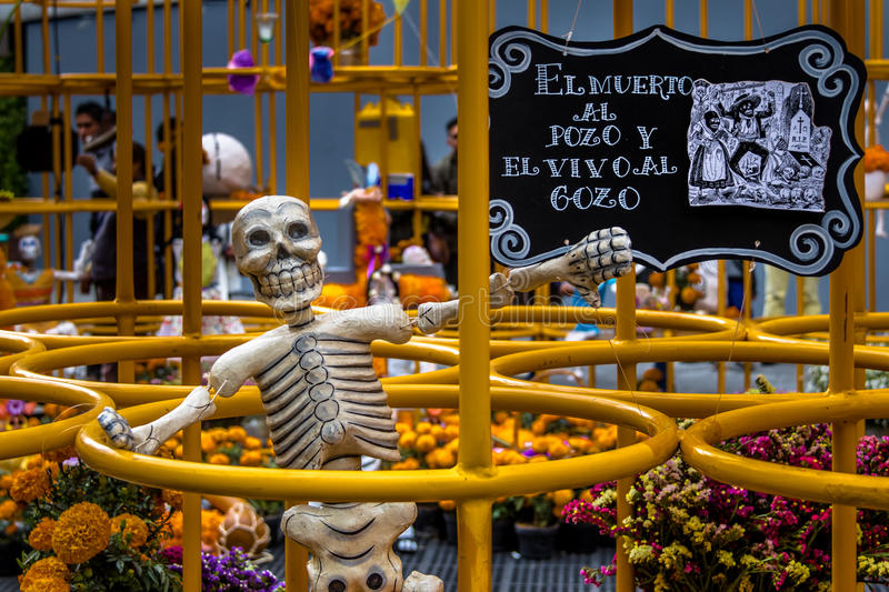 Jour de Dead Dia de los Muertos Decoration - Mexico, Mexique photos stock