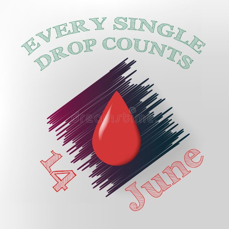 Jour de donneur de sang du monde images libres de droits