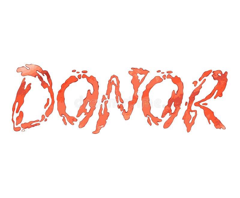 Jour de donneur de sang du monde E illustration de vecteur