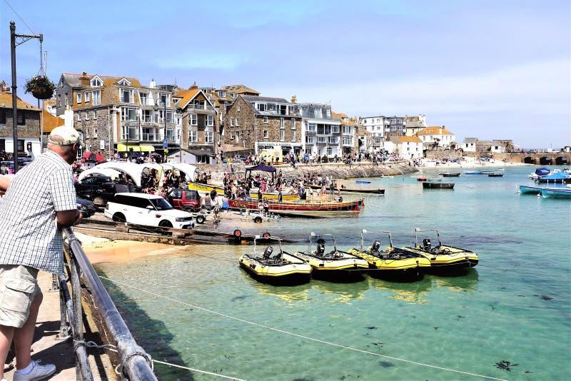 Jour de emballage de yole, St Ives, les Cornouailles, R-U photo libre de droits